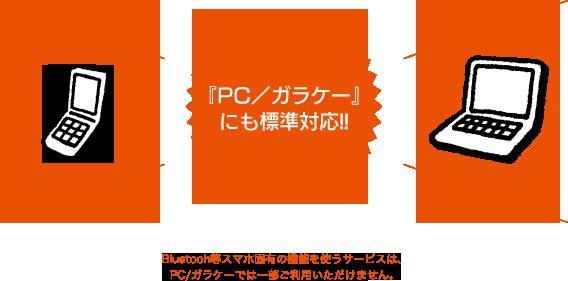 『PC/ガラケー』にも標準対応!!